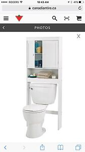 Like new over the toilet space save