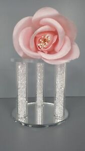 ACRYLIC MINI MIRROR BASE CAKE SEPARATOR CAGE CRYSTAL CAKE TOPPER WEDDING STAND