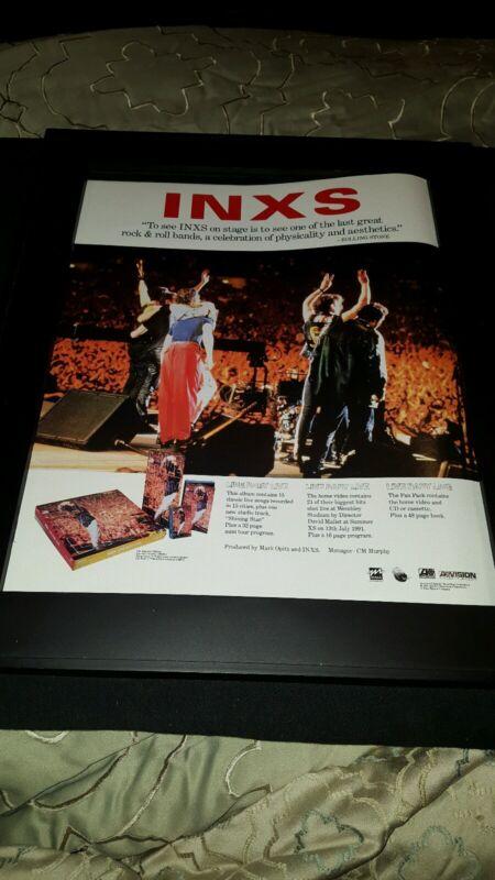 INXS Live Baby Live Rare Original Promo Poster Ad Framed!