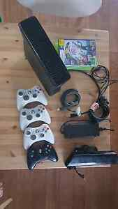 Xbox 360 250Gb with 4 controller and kinect Durack Brisbane South West Preview
