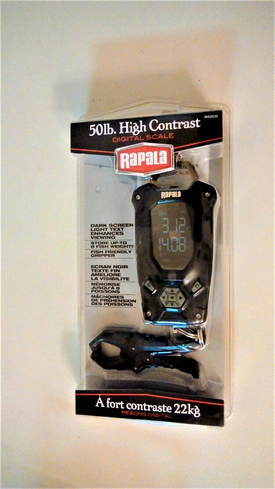 Rapala RHCDS50 High Contrast Digital Fish Scale Up To 50 Lbs. UPC 022677286037 - $22.50