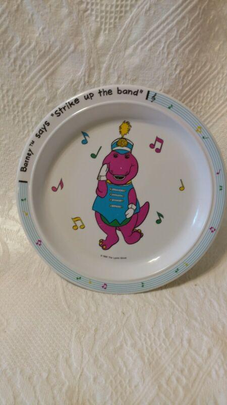 Barney Purple Dinosaur Strike Up The Band Plate Children