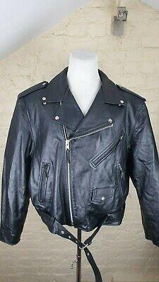 Official TERMINATOR 2 Universal Studios Men's Leather Biker Jacket Size: XL