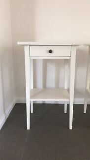 White antique bed side tables