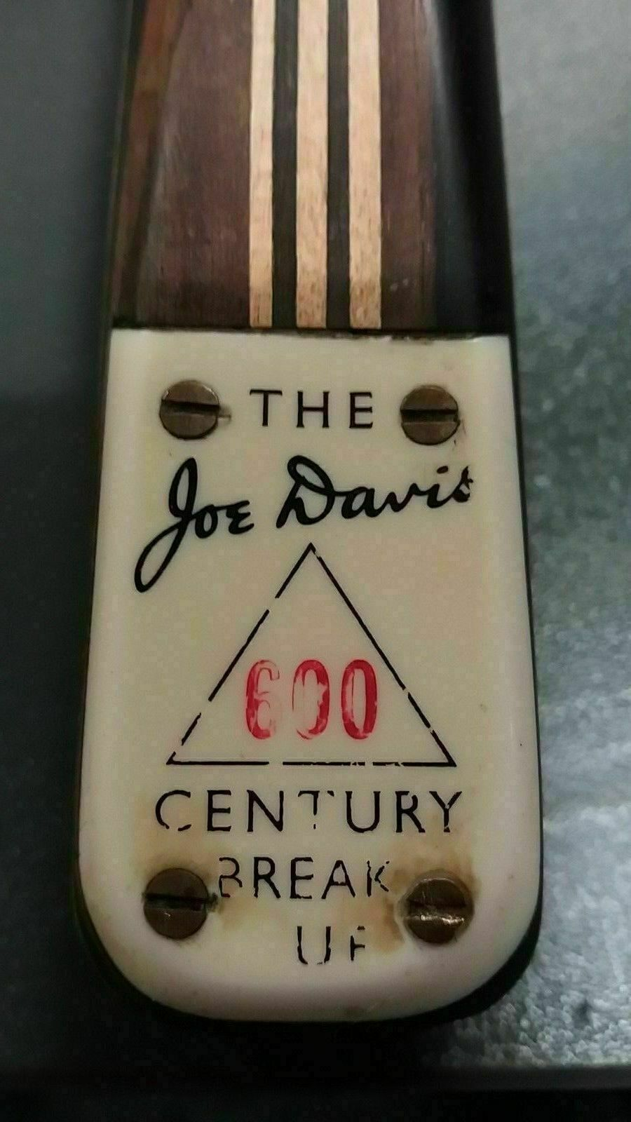 JOE DAVIS (600) CENTURY BREAK SNOOKER CUE 450