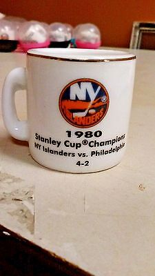 Nhl Stanley Cup Crazy Mini Mug New York Islanders 1980 Champs W Opponent  Score