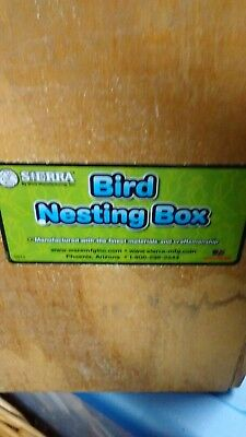 Bird nesting box solid wood Parakeet Conure Small Parrot