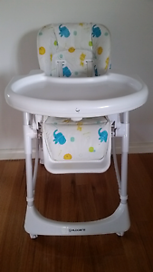 Childcare Foldable High Chair With Detachable Table Heidelberg West Banyule Area Preview