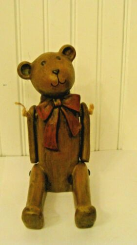 Adorable Sitting Bear Figurine, Hands Moves