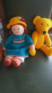 Teddy Bear & Rag  Doll