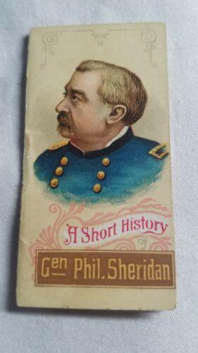 PHIL SHERIDAN W. Duke Sons & Co. Generals A Short History Of VG+