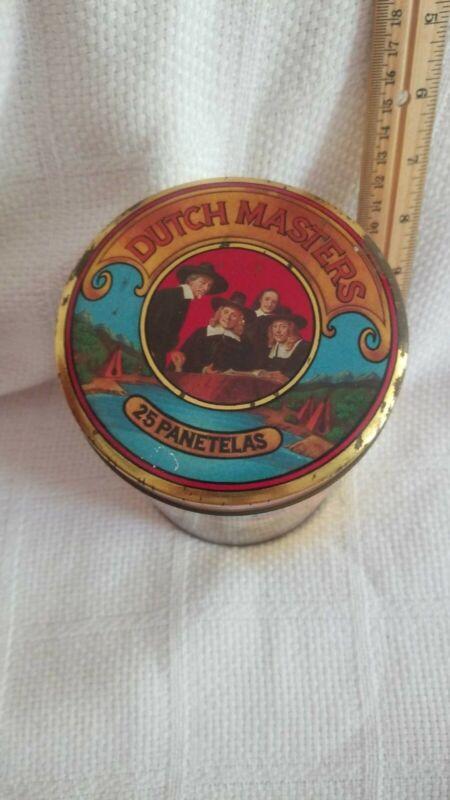 Vintage Dutch Masters 25 Panetelas Cigar Tin , American Indian motif