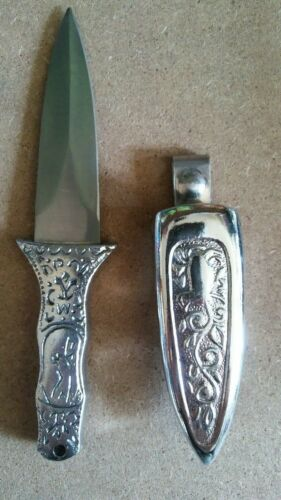 Engraved Silver Boot Athame Knife Dagger Wicca Wiccan Pagan Altar