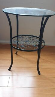 Black metal side table Macquarie Park Ryde Area Preview