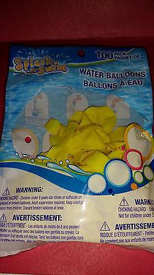 Splash & Swim Water Balloons100 Count/With Free Water Bomb Filler Brt.Yellow