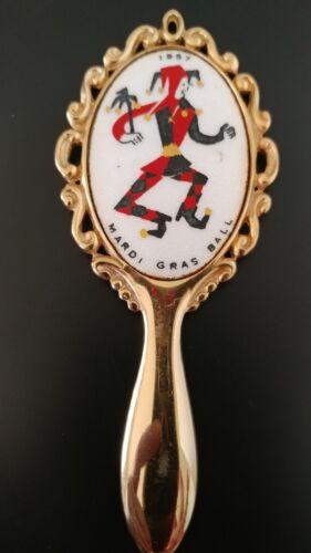 Vintage Purse Hand Mirror Mardis Gras Crewe Favor 1957 Ball VERY RARE