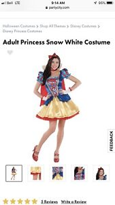 Adult Snow White Costume Mint Condition Sz Small