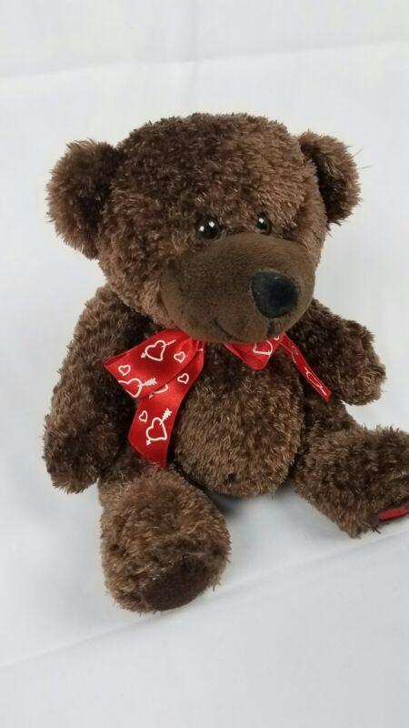 Dan Dee Sweetheart Teddy Bear Brown Red Bow w/hearts Valentine