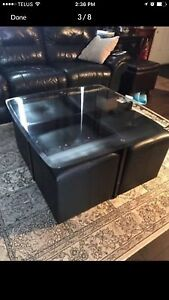 Modern Table & Cube Chairs