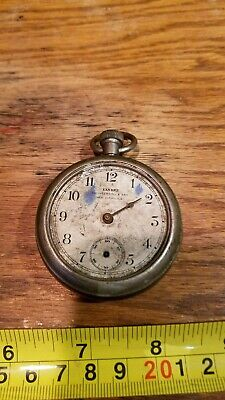 C. 1891 Yankee R. H. Ingersoll & Bro Pocket Watch Movement Dial Partial Case