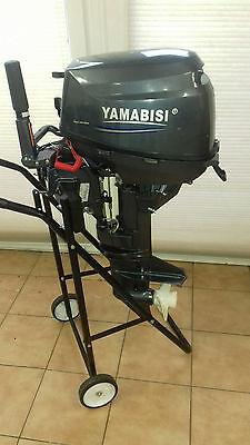 Yamabisi 9,8 PS Kurzschaft Handstart Schlauchbootmotor Neu!!
