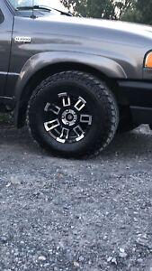 4mags avec pneus 31po