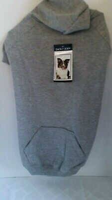 Zack & Zoey Basic Hoodie for Dogs-LARGE-Heather Gray--NEW