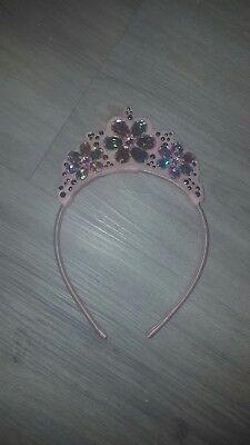 h&m Haar reif Haarreifen Diadem Prinzessin Königin kristall top Fasching...