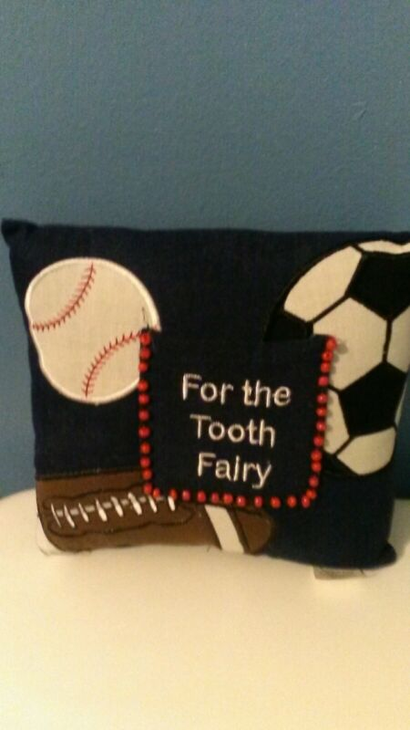 """For the Tooth Fairy"" pillow"