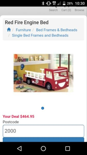 Brand new red fire engine bed | Cots & Bedding | Gumtree Australia ...