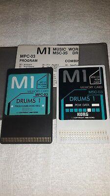 KORG DOPPIE CARD MPC-03+MSC-03  DRUMS 1  100 SUONI   X  KORG M1/M1r/T3  segunda mano  Embacar hacia Mexico