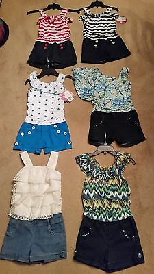Lot of 6 girls size 8 Rewind Rompers/Clothes - Back to school - Back To School Clothes