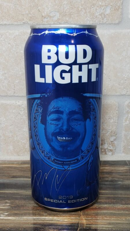 Empty Post Malone 2019 Special Edition Texas Bud Light Can Pull Tab Unopened