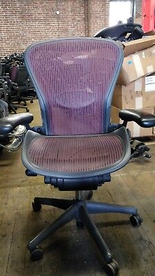 Herman Miller Aeron Mesh Office Desk Chair Medium Size B Fully Adjustable Lumbar
