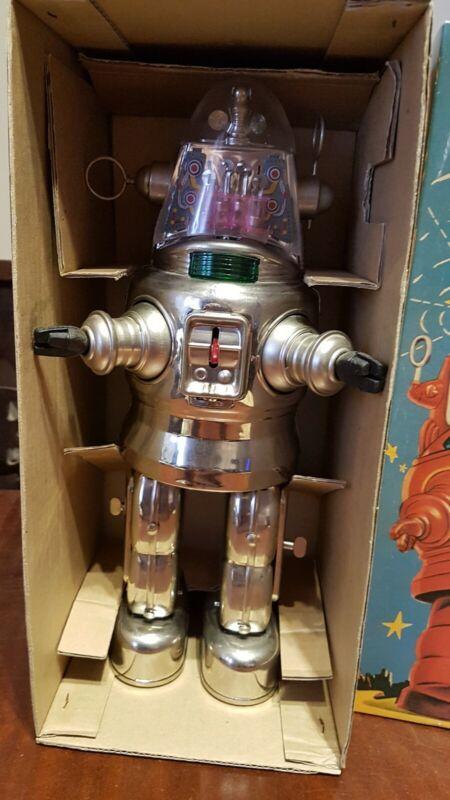 Tin Toy Mechanized Robot, Osaka tin toy,Japan 91 B/O, Box