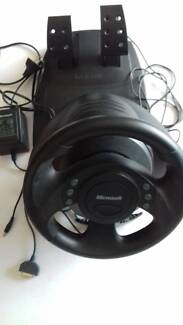 Microsoft SideWinder  Steering Wheel and Foot Pedals
