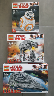 Star Wars Lego 75187+ 75189 + 75190 BB-8 +Scout Walker +Destroyer