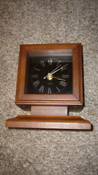 AMANA FURNITURE AND CLOCK SHOP IOWA MID CENTURY MODERN OAK DESK MANTLE CLOCK