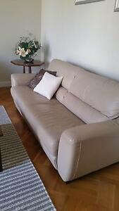 3-seater Leather sofa, (Freedom), v g c Brighton East Bayside Area Preview