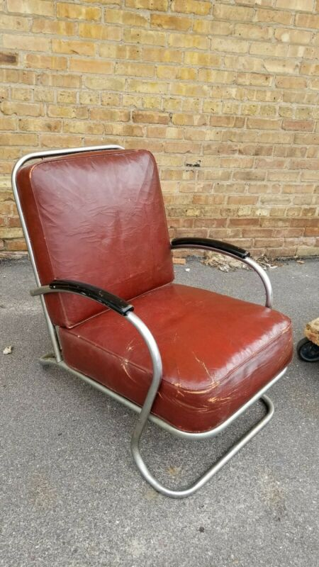 Vintage Howell Deco Arm Chair Streamline modern  design