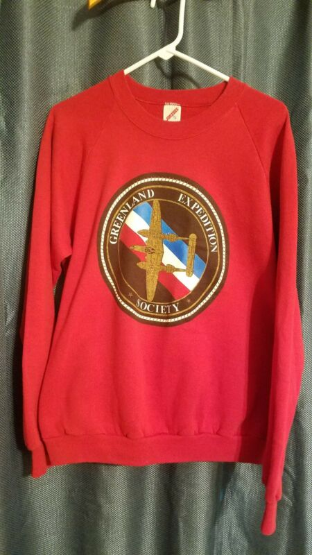 P-38 Lightning Sweatshirt Greenland Expedition Society vintage