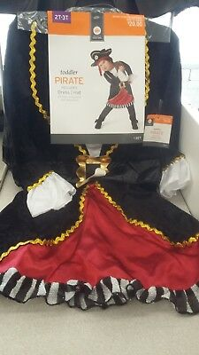 NWT NEW Pirate Dress Hat Halloween Costume Infant/Toddler Costume 2t - 3t - 3t Pirate Costume