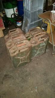 jerry cans petrol diesel army surplus 1940's 1950's Port Fairy Moyne Area Preview