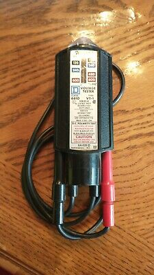 Square-d Wiggy Vt1-s Class 6610 Voltage Tester 120 - 600 Series A Polarity Test