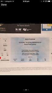 2 x 2016 NRL grandfinal tickets Banksia Rockdale Area Preview