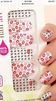 """INCOCO Nail Polish Strips, """"Kiss Kiss"""" Colorful Design 16 Double-Ended Strips"""