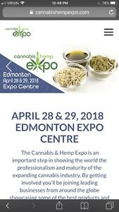 4 tickets Edmonton Cannabis & Hemp expo