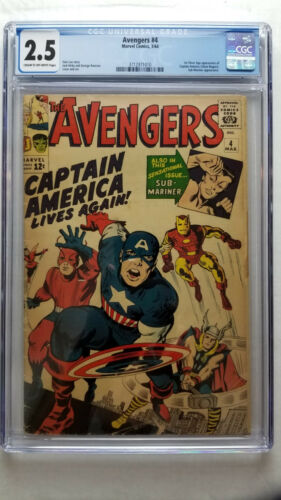 Avengers #4 CGC 2.5 GOOD+    1st Silver Age Appearance Captain America