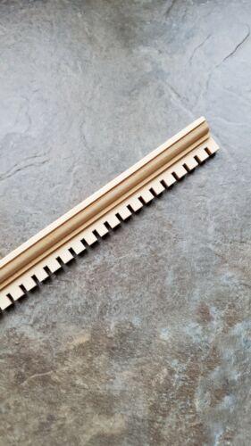 """Dollhouse Miniatures Dentil Crown Molding Ceiling Trim 3/8"""" x 18"""" 1:12 Scale"""