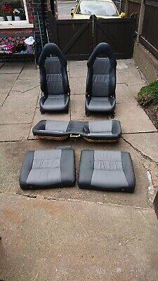Toyota Celica T Sport VVTLI Mk7 Leather Back Rear Seats only In Black And Grey